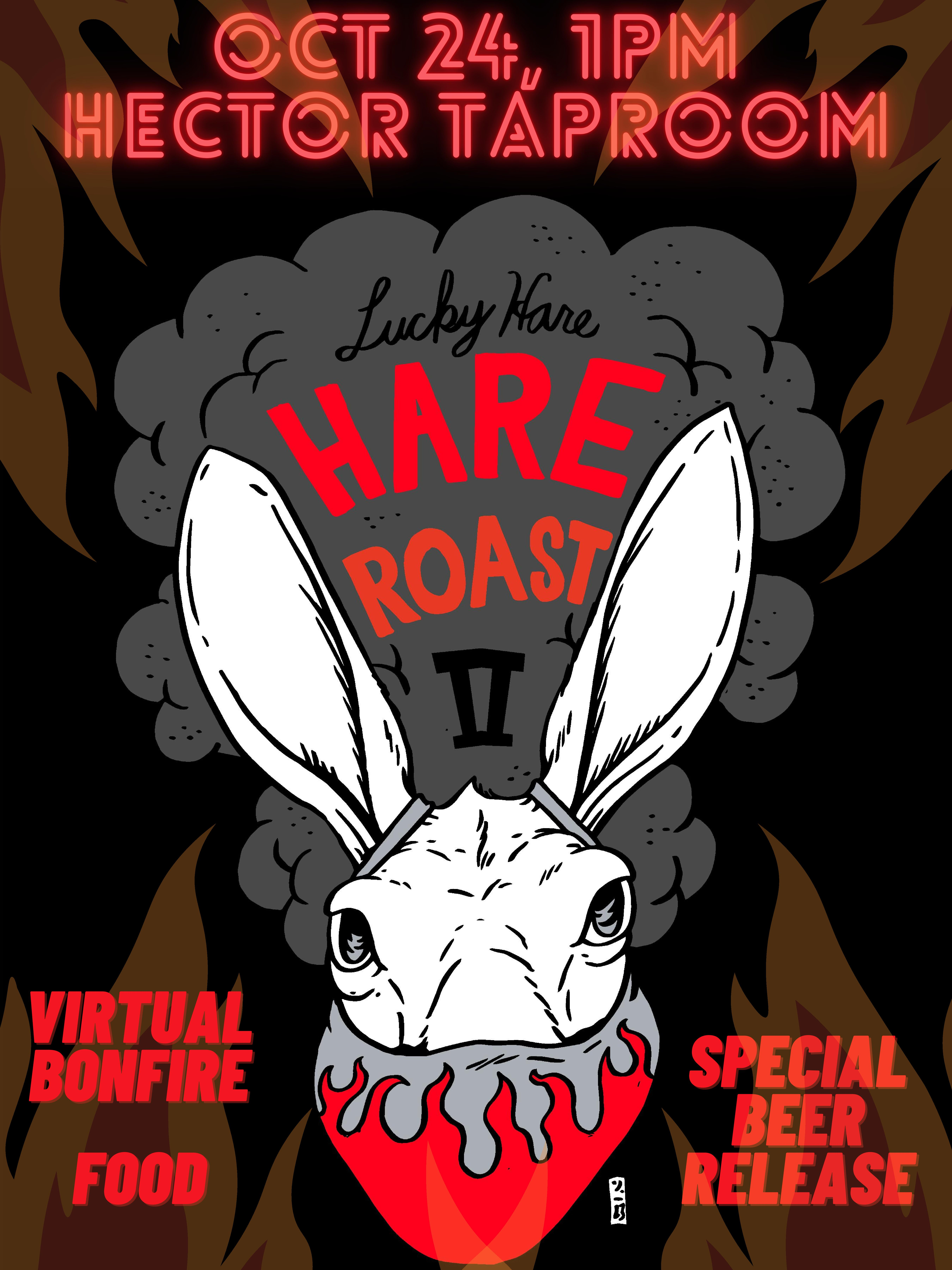Second Annual Hare Roast Hector New York Lucky Hare special beer food virtual bonfire