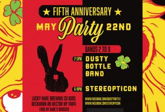 Lucky Hare Brewing Company craft beer near me fifth anniversary party live music food limited glassware