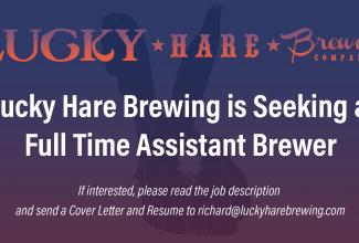Lucky Hare Brewing is Hiring a Full Time Assistant Brewer
