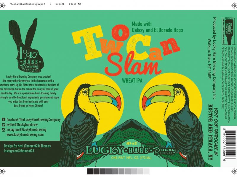 TwoCan Slam / Wheat IPA Can Release 1/23